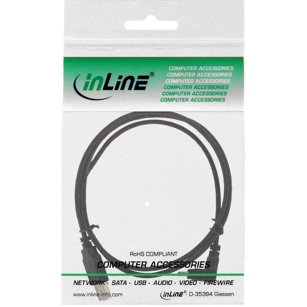 InLine USB Kabel 2m abgewinkelt