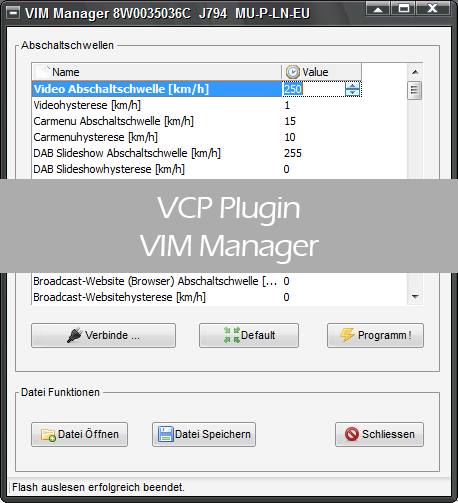 VIM Manager für VCP / VCP+K Interface